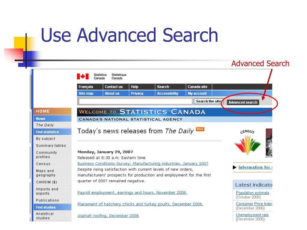Use Advanced Search