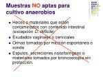 muestras no aptas para cultivo anaerobios