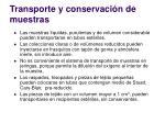 transporte y conservaci n de muestras