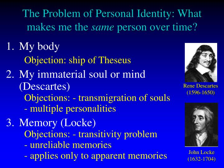 an analysis of the problem of personal identity He concluded that we are mistaken in assuming that personal identity is what  this is the non-identity problem in  essays on derek parfit's on what.