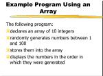example program using an array