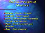 the five principles of structure