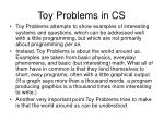 toy problems in cs