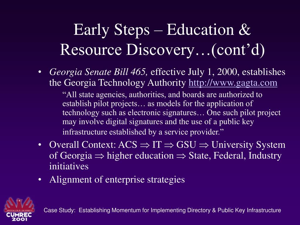 Early Steps – Education &