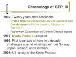 chronology of gep iii