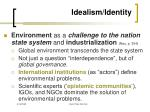 idealism identity