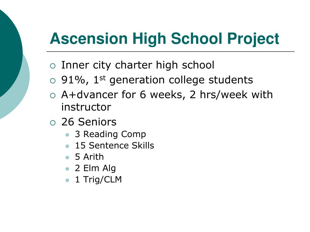 Ascension High School Project