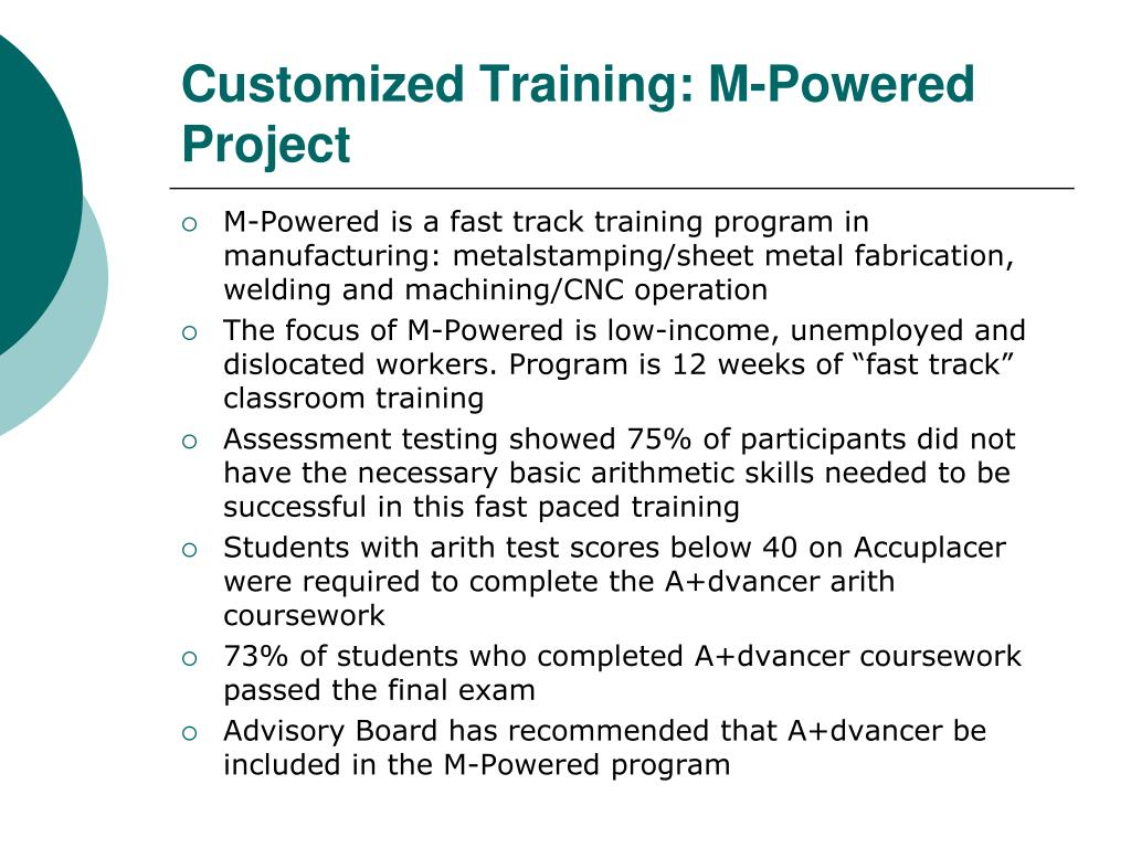 Customized Training: M-Powered Project