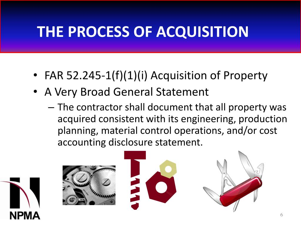 THE PROCESS OF ACQUISITION