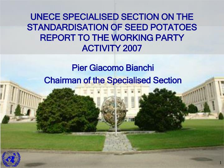 Pier giacomo bianchi chairman of the specialised section