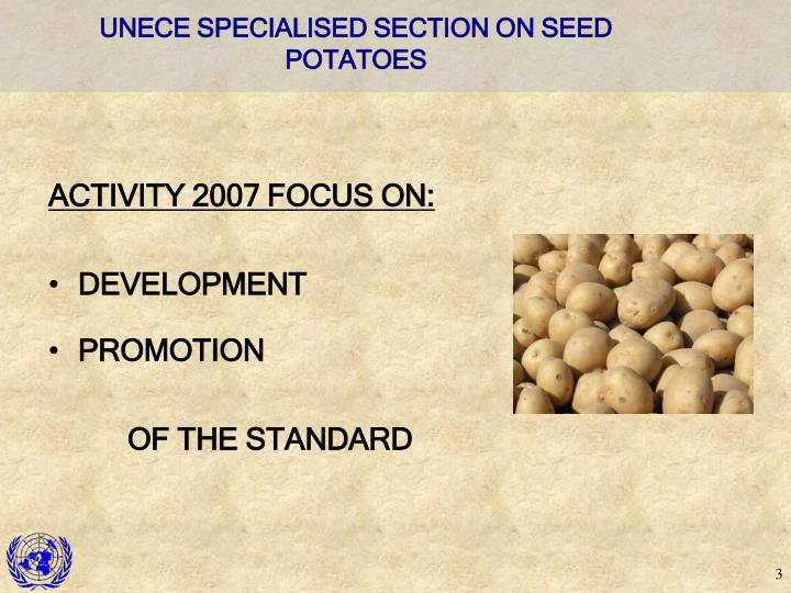 Unece specialised section on seed potatoes3
