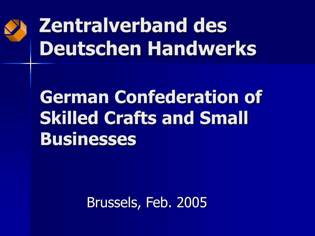 german confederation of skilled crafts and small businesses l.