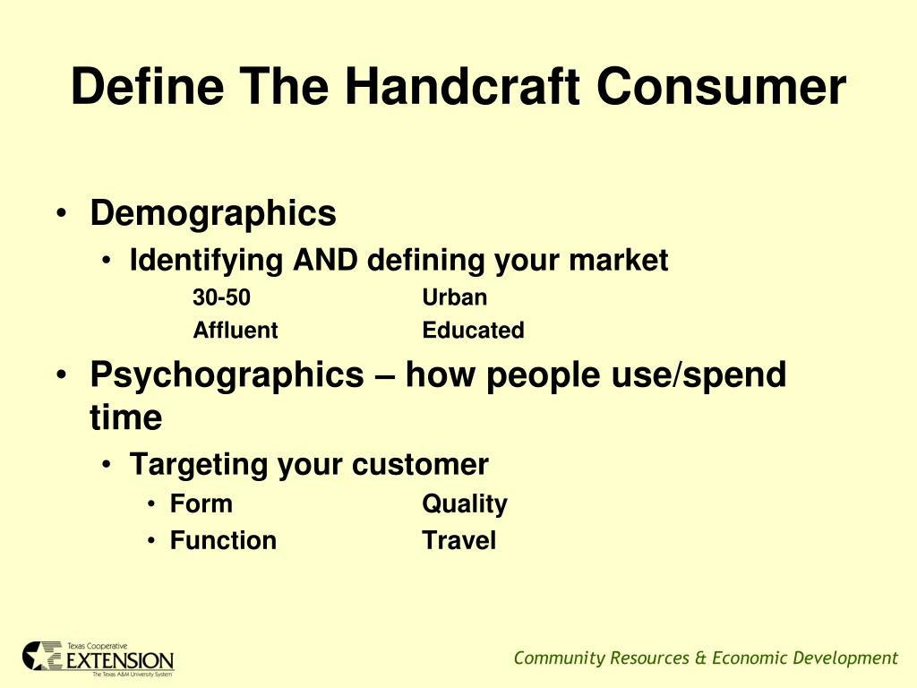 Define The Handcraft Consumer