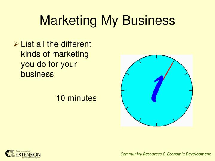 Marketing my business