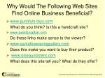 why would the following web sites find online business beneficial