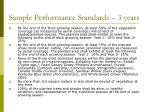 sample performance standards 3 years