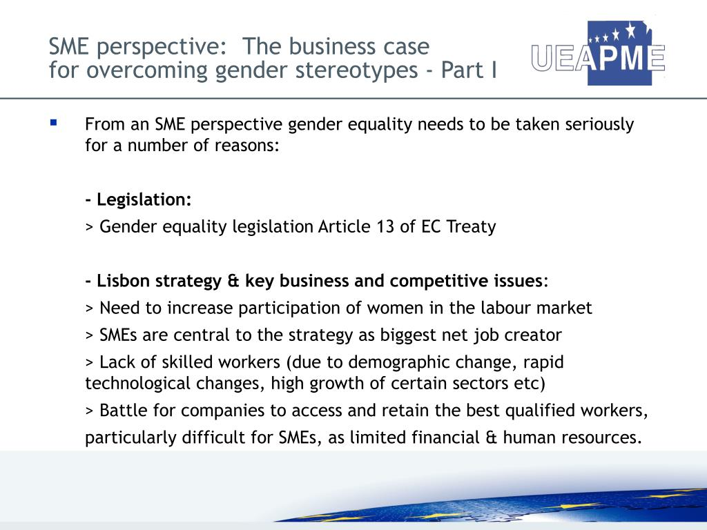 SME perspective:  The business case