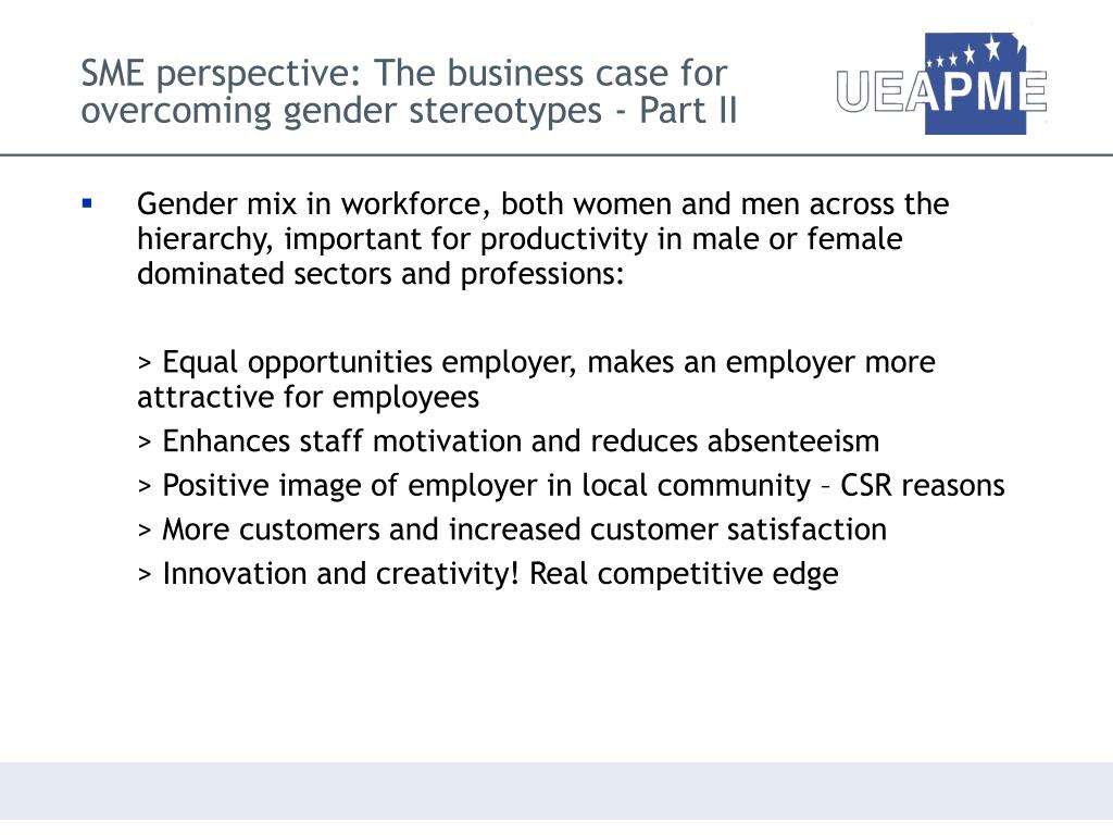 SME perspective: The business case for