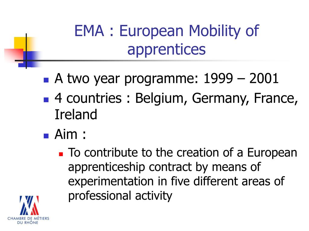 EMA : European Mobility of apprentices