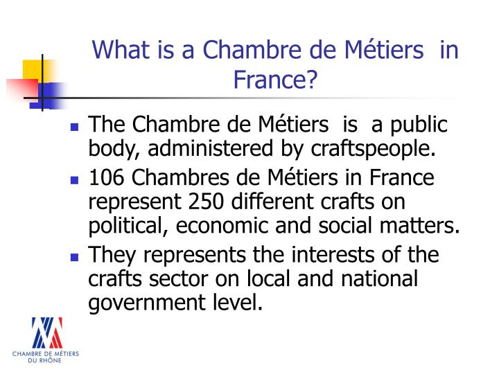 What is a chambre de m tiers in france