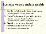 business models enclose wealth