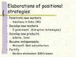 elaborations of positional strategies