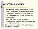 governance example