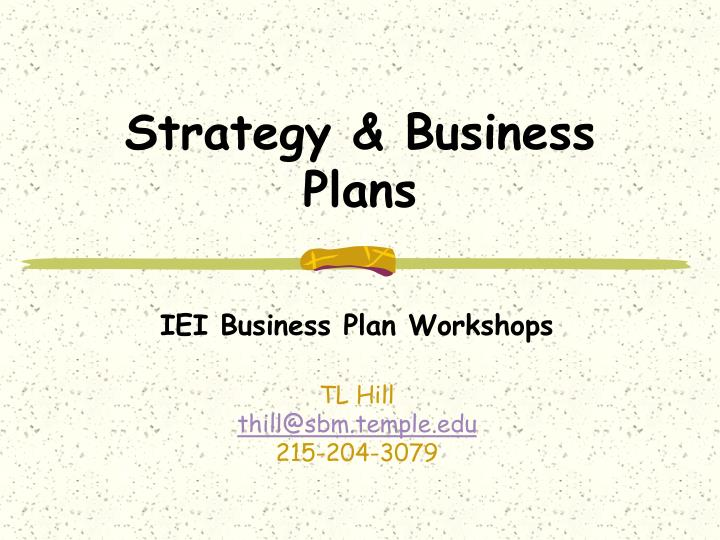 strategy business plans n.
