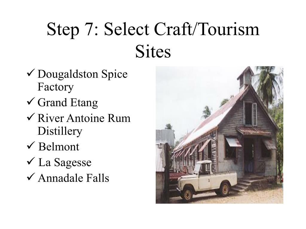 Step 7: Select Craft/Tourism Sites