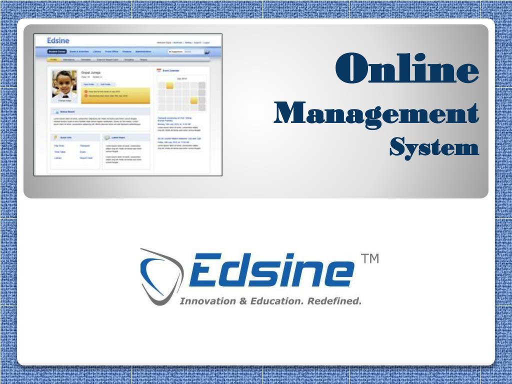 online management system l.