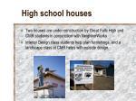 high school houses
