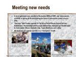 meeting new needs