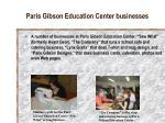 paris gibson education center businesses