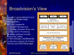 broadvision s view