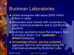 buckman laboratories