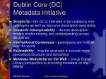 dublin core dc metadata initiative