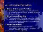 e enterprise providers