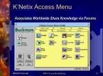 k netix access menu