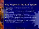 key players in the b2b space