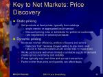key to net markets price discovery
