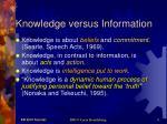 knowledge versus information