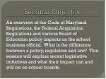 seminar objective