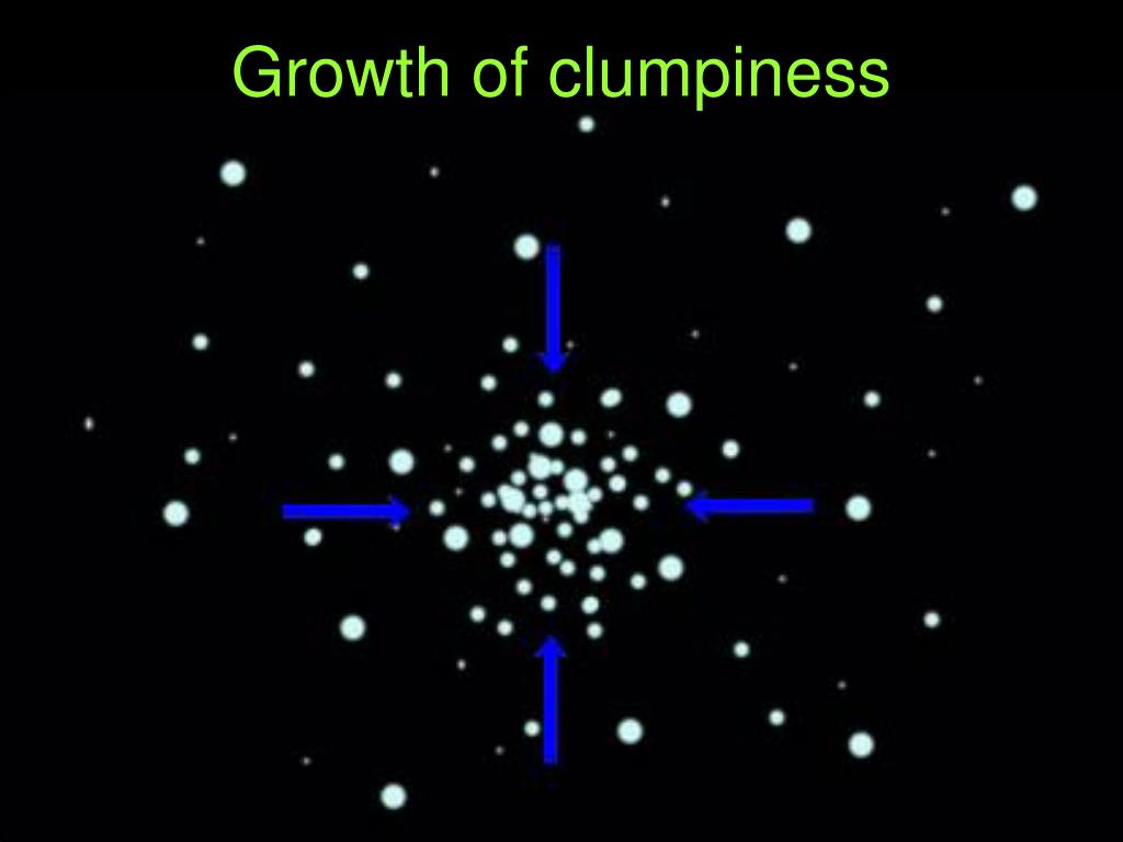 Growth of clumpiness