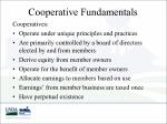 cooperative fundamentals