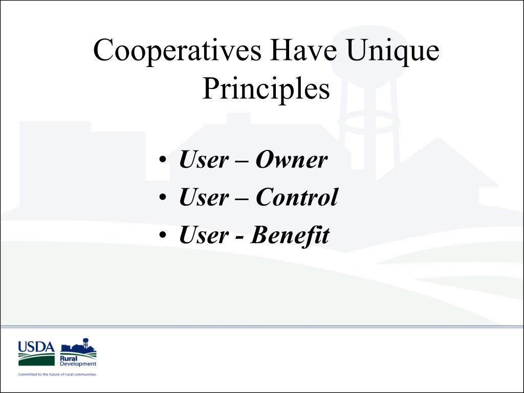 Cooperatives Have Unique Principles