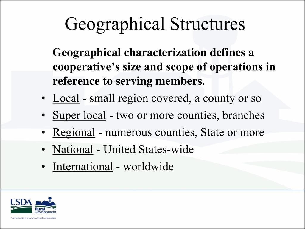 Geographical Structures