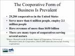 the cooperative form of business is prevalent