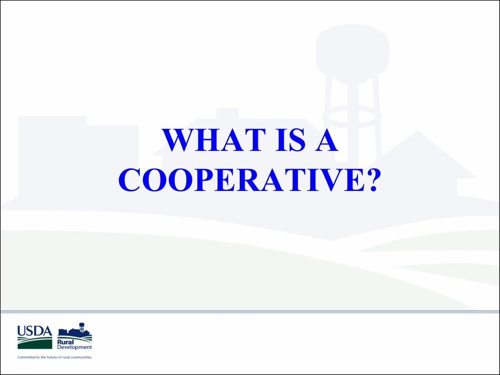 what is a cooperative l.
