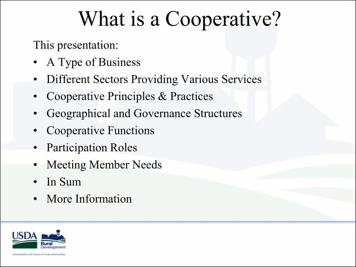 What is a cooperative2