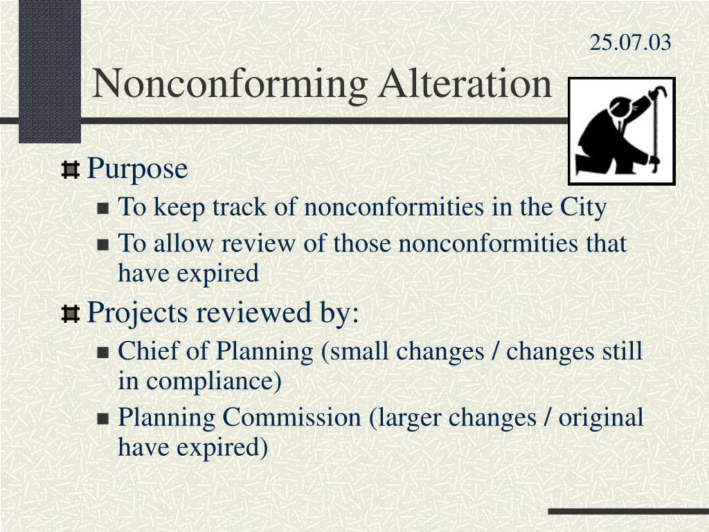 Nonconforming Alteration